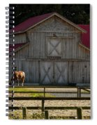 Old-style Horse Barn Spiral Notebook