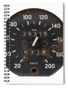 Old Tachometer Spiral Notebook