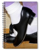 Old Tap Dance Shoes With White Socks And Wooden Floor Spiral Notebook