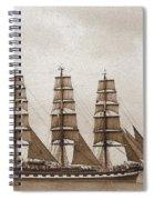 Old Time Schooner Spiral Notebook