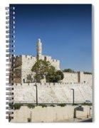 Old Town Citadel Walls Of Jerusalem Israel Spiral Notebook
