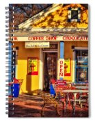 Old Town Ice Cream Parlor Spiral Notebook