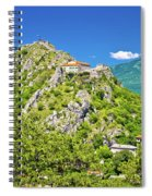 Old Town Knin On The Rock View Spiral Notebook