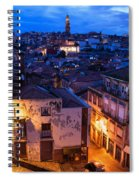 Old Town Of Porto In Portugal At Dusk Spiral Notebook