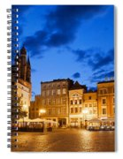 Old Town Square By Night In Torun Spiral Notebook