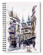Old Town Square In Prague Spiral Notebook