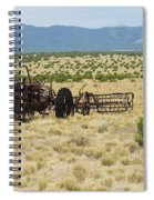 Old Tractor And Rake In New Mexico Spiral Notebook
