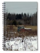 Old Truck And A Moose Spiral Notebook