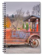 Old Truck And Gas Filling Station Spiral Notebook
