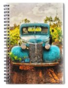 Old Truck At The Winery Spiral Notebook