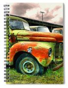 Old Trucks In A Row Spiral Notebook