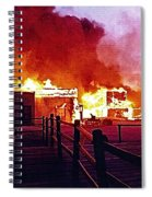 Old Tucson Arizona In Flames 1995  Spiral Notebook