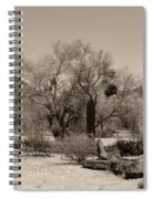 Old Tucson Landscape  Spiral Notebook