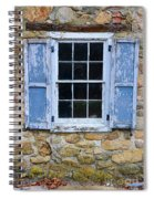 Old Village Window With Blue Shutters Spiral Notebook