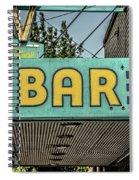 Old Vintage Bar Neon Sign Livingston Montana Spiral Notebook