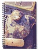 Old Vintage Pickup Truck Utah Square Spiral Notebook
