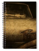 Old Vintage Plymouth Car Hood Spiral Notebook
