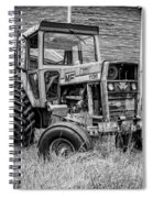 Old Vintage Tractor On A Farm In New Hampshire Square Spiral Notebook