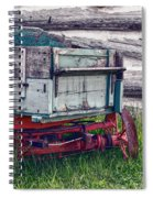 Old Wagon Outside Belgian Farm Spiral Notebook