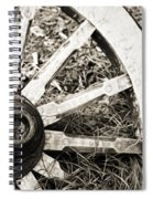 Old Wagon Wheel Spiral Notebook