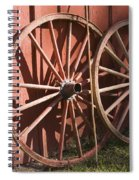 Old Wagon Wheels Spiral Notebook