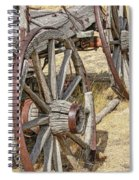 Old Wagon Wheels From Montana Spiral Notebook