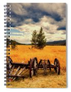 Old Wagons In Meadow Spiral Notebook