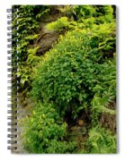 Old Walls Rising From The Water Edge. Spiral Notebook