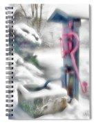 Old Water Pump In Winter Spiral Notebook