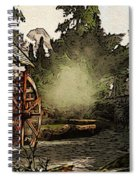 Old Watermill In The Forest Spiral Notebook
