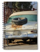 Old White Plymouth In Natural Sunset Spiral Notebook