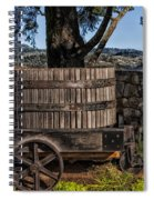 Old Wine Barrel And Wagon - Napa Valley Spiral Notebook