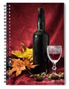 Old Wine Bottle Spiral Notebook