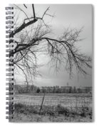Old Winter Tree Grayscale Spiral Notebook