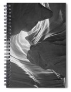 Old Woman In The Canyon Black And White Spiral Notebook