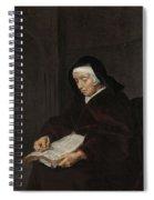 Old Woman Meditating, Gabriel Metsu, C. 1661 - C. 1663 Spiral Notebook