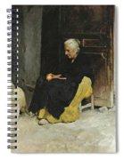 Old Woman Peeling An Orange.  Lunch. Elche Spain Spiral Notebook
