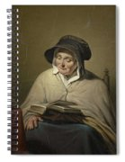 Old Woman Reading, Cornelis Kruseman, 1820 - 1833 Spiral Notebook