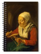Old Woman Unreeling Threads 1665 Spiral Notebook