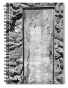 Old Wood Door  And Stone - Vertical Bw Spiral Notebook