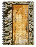 Old Wood Door And Stone - Vertical  Spiral Notebook