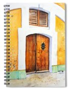 Old Wood Door Arch And Shutters Spiral Notebook