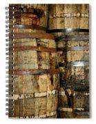 Old Wood Whiskey Barrels Spiral Notebook