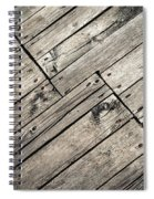 Old Wooden Boards Nailed Spiral Notebook