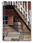 Old Wooden Cabin Log Detail Spiral Notebook