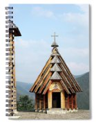 Old Wooden Church And Bell Tower Spiral Notebook