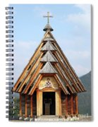 Old Wooden Church On Mountain Spiral Notebook