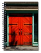 Old Wooden Doors Spiral Notebook