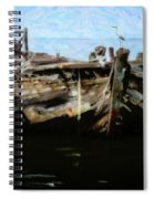 Old Wooden Fishing Boat Spiral Notebook