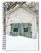 Old Wooden Garage In The Snow Woodstock Vermont Spiral Notebook